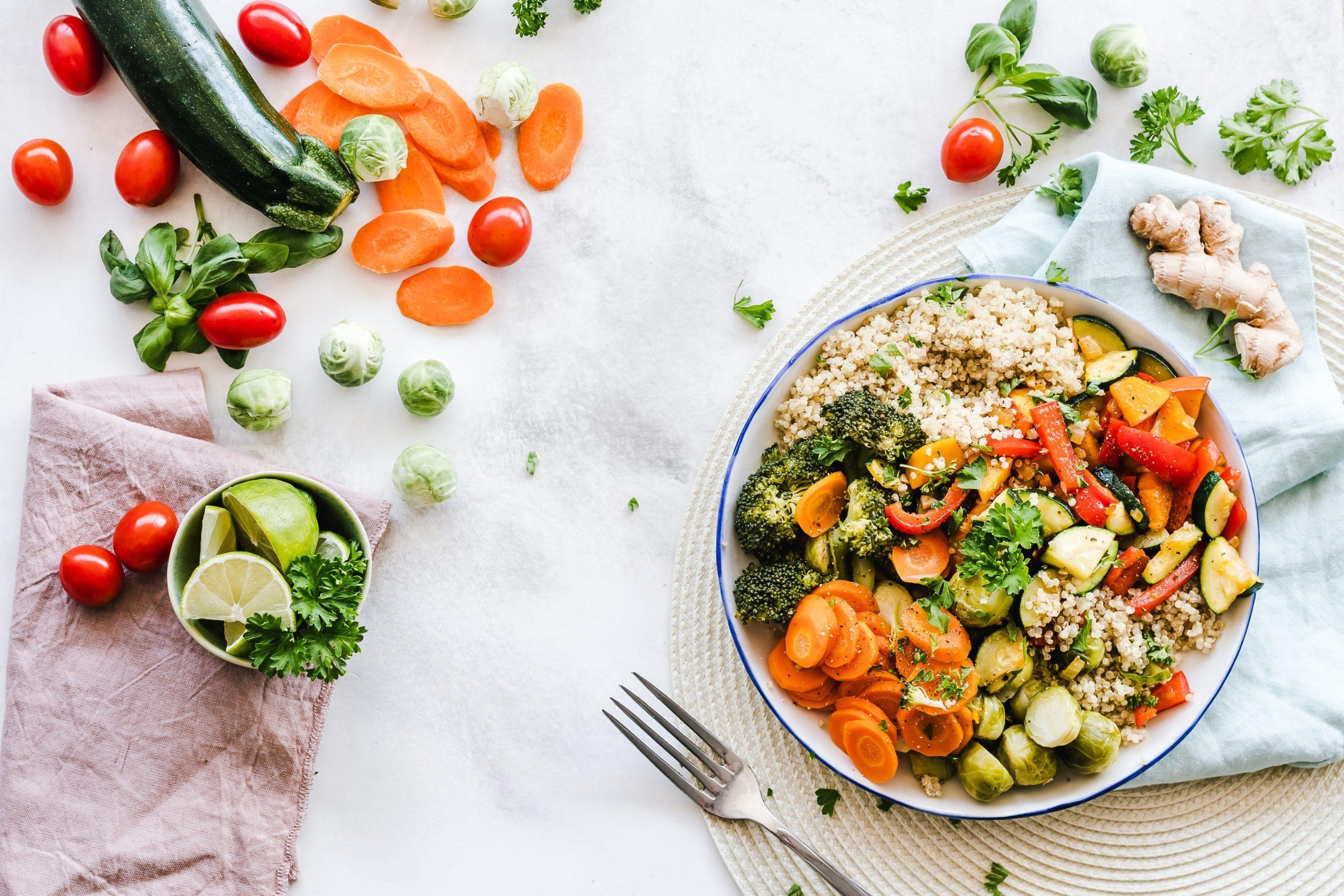 veganské jídlo bohaté na bílkoviny