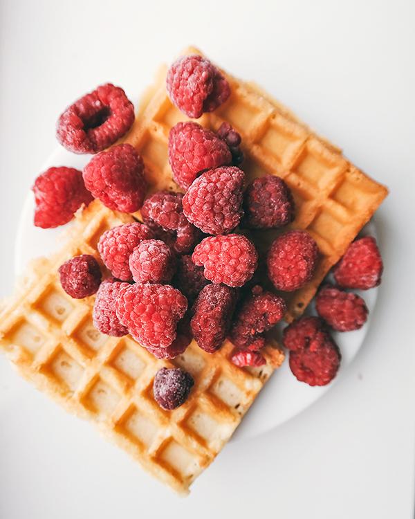 veganské waffle