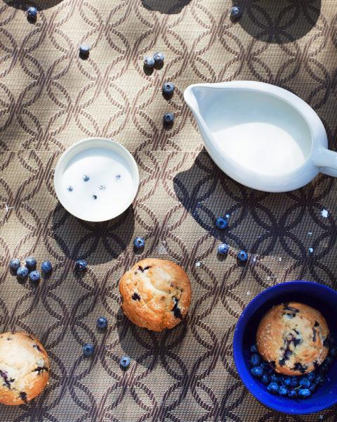 borůvkové muffiny s čokoládou